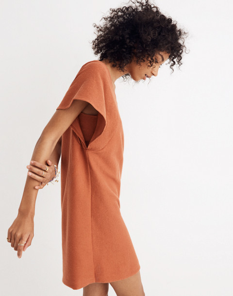Texture & Thread Square-Neck Dress in afterglow red image 2