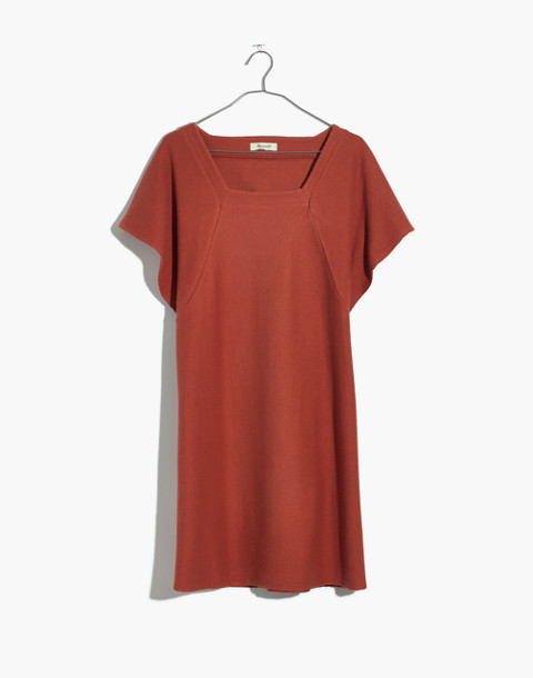 Texture & Thread Square-Neck Dress in afterglow red image 4
