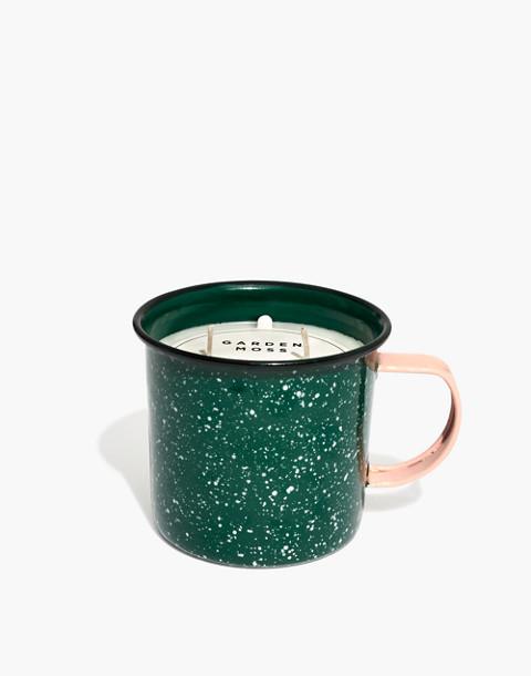 Enamel Mug Candle in garden moss image 1