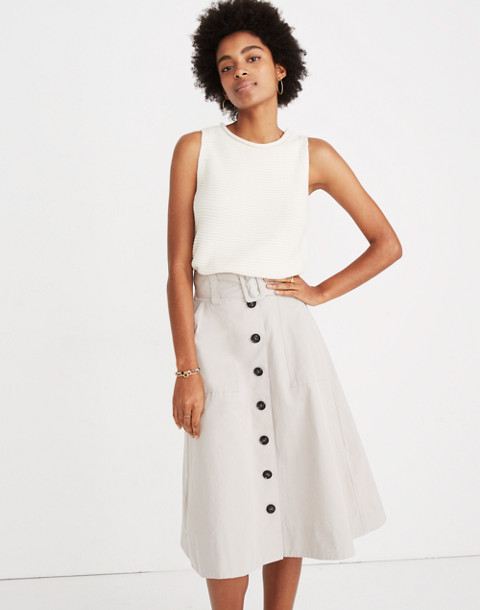 Trench Circle Skirt in weathered concrete image 1