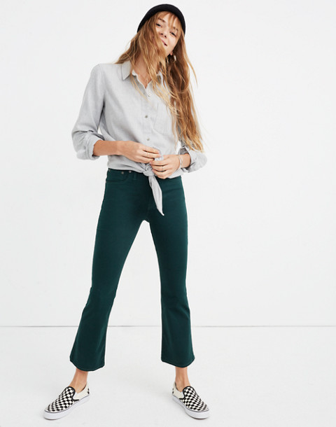 Cali Demi-Boot Sateen Jeans in smoky spruce image 3
