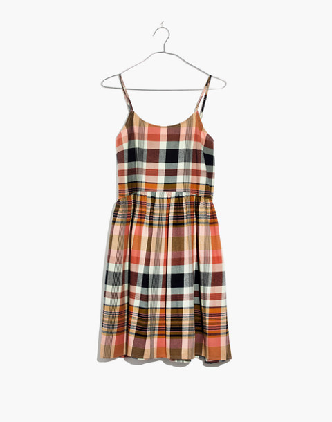 Plaid Babydoll Cami Dress in dried coral image 4