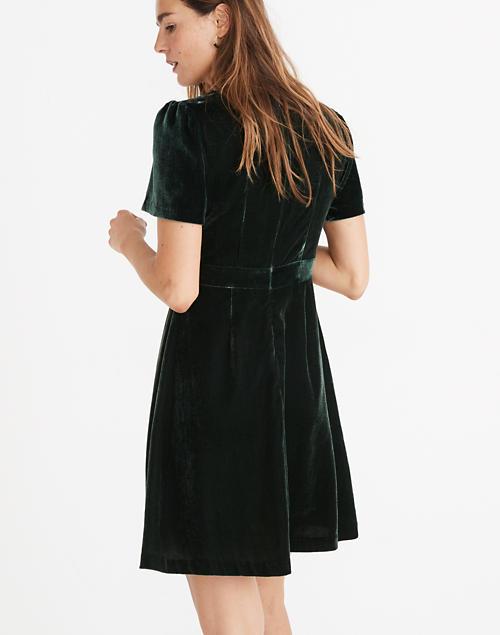9bee39599d0e Velvet Mini Dress in smoky spruce image 3