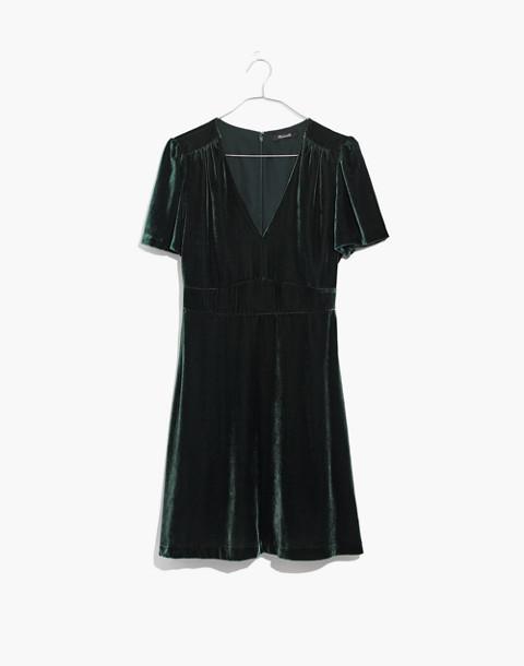 Velvet Mini Dress in smoky spruce image 4
