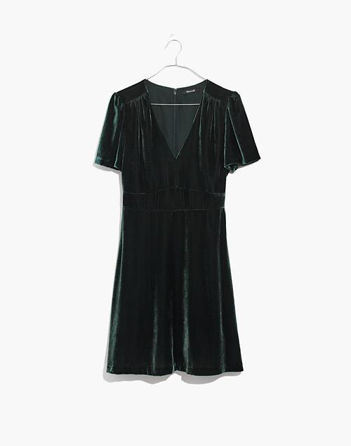 fd835716f839 Velvet Mini Dress in smoky spruce image 4
