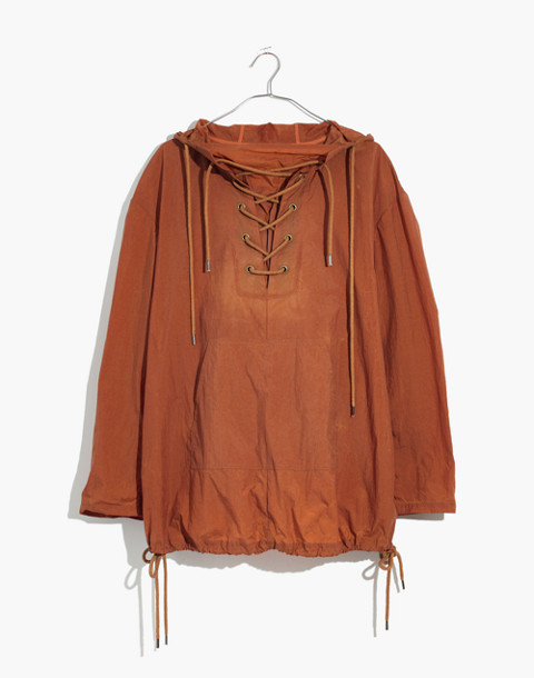 Lace-Up Popover Jacket in warm nutmeg image 4