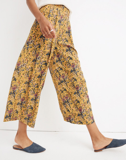 Madewell x Karen Walker® Silk Floral Potter Pants in upholstery mystic yellow image 2
