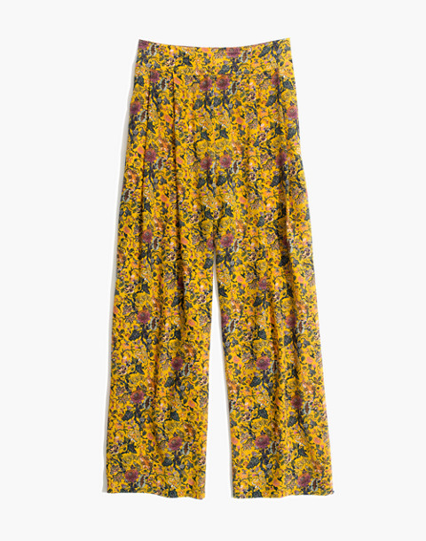 Madewell x Karen Walker® Silk Floral Potter Pants in upholstery mystic yellow image 4
