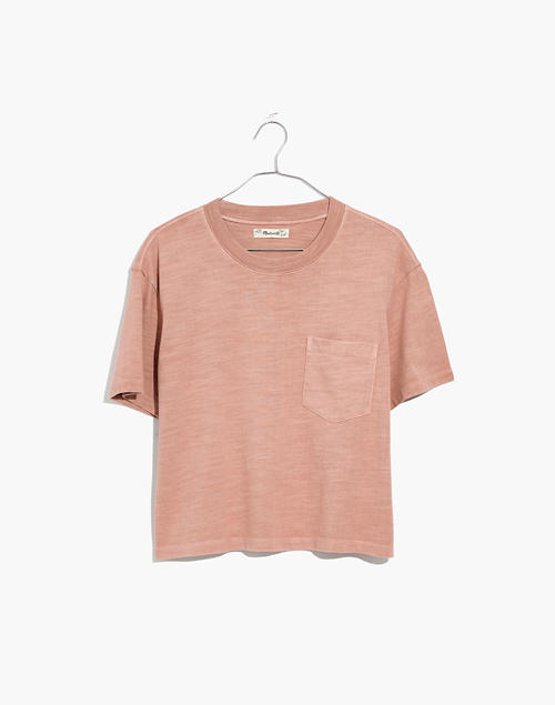 93dac1233ae3a2 Garment-Dyed Easy Crop Tee in antique coral image 1