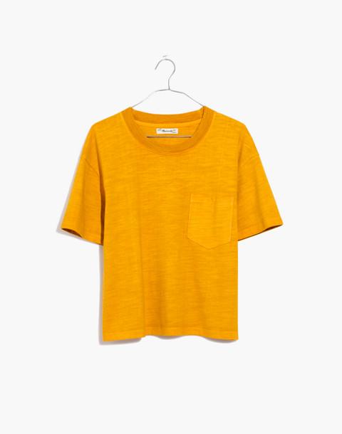 Garment-Dyed Easy Crop Tee