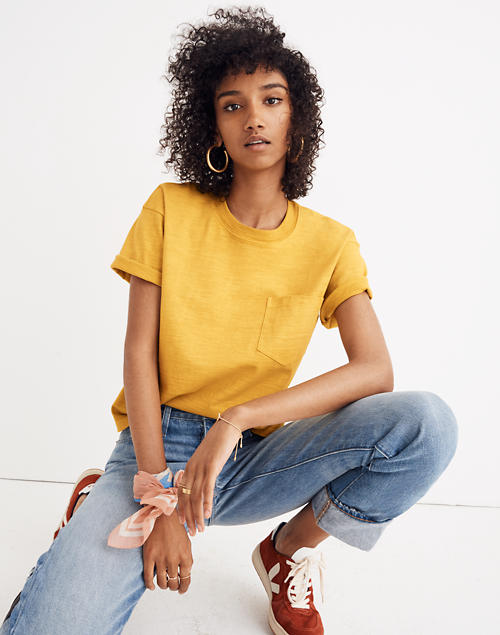 dd847639fb2543 Garment-Dyed Easy Crop Tee