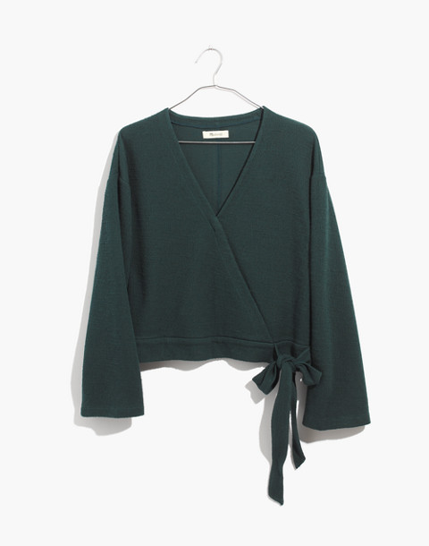 Texture & Thread Wrap Top in smoky spruce image 1