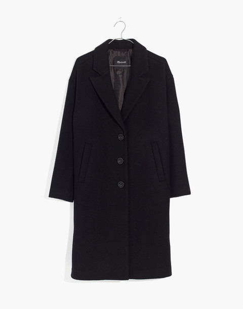 Bergen Cocoon Coat in true black image 4