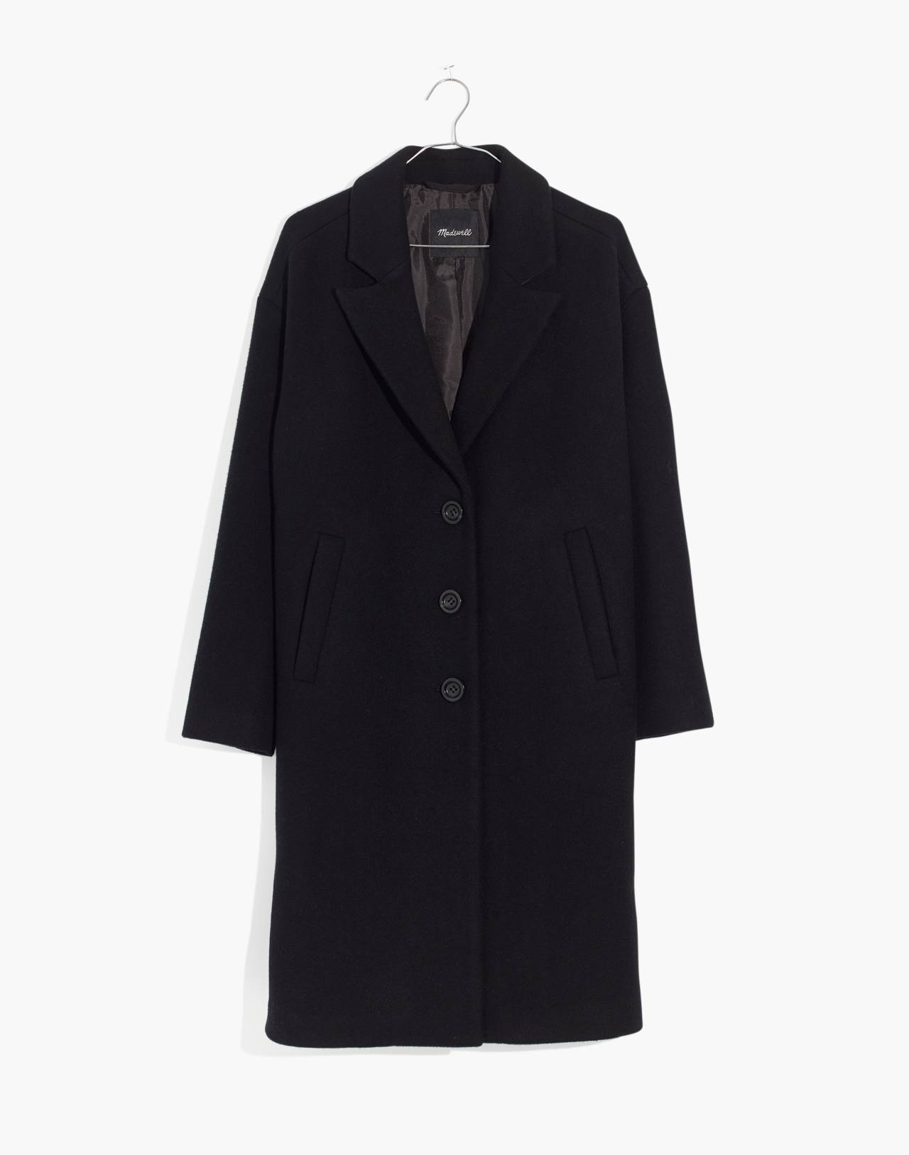 Bergen Cocoon Coat in true black image 4