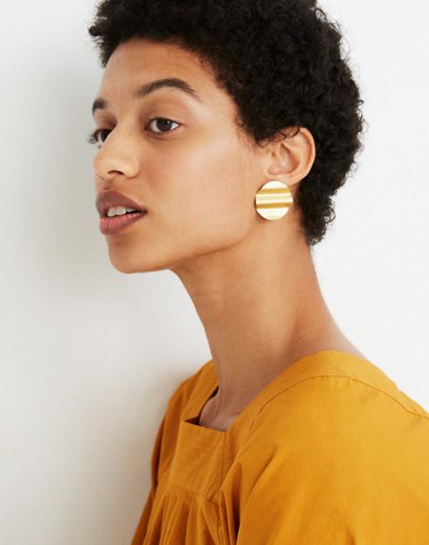 Waves Disc Earrings