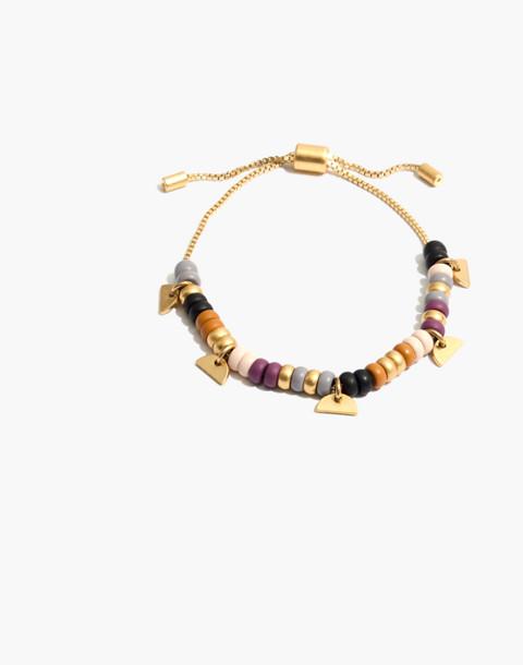 Beaded Chain Bracelet in warm violet multi image 1