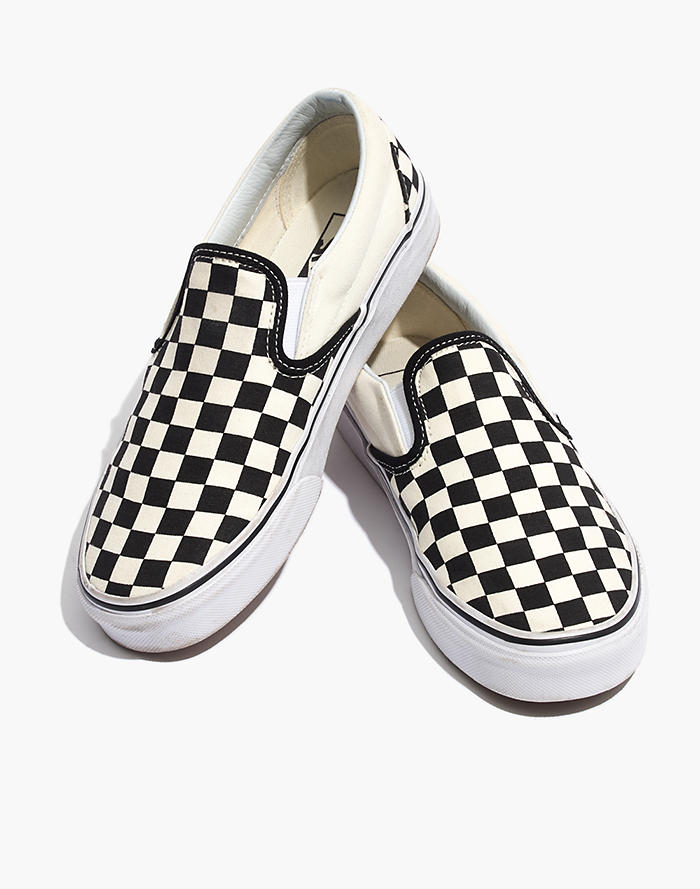 2a8bb171c Vans® Unisex Classic Slip-On Sneakers in Black Checkerboard