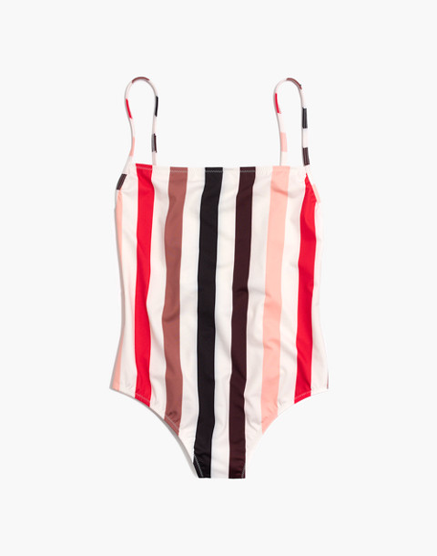 Solid & Striped® Chelsea One-Piece Swimsuit in lipstick stripe image 4
