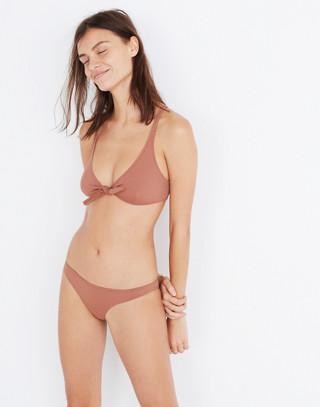 Solid & Striped® Fiona Tie-Front Bikini Top in mocha image 2