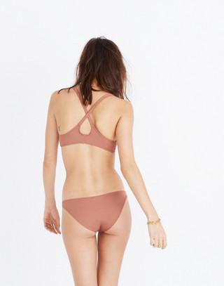 Solid & Striped® Fiona Tie-Front Bikini Top in mocha image 3