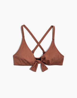 Solid & Striped® Fiona Tie-Front Bikini Top in mocha image 4