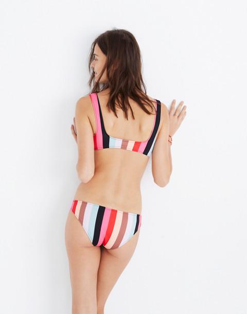 Solid & Striped® Elle Bikini Bottom in malibu stripe image 3
