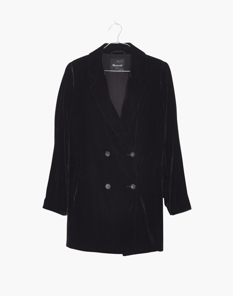 Velvet Caldwell Double-Breasted Blazer in black image 4