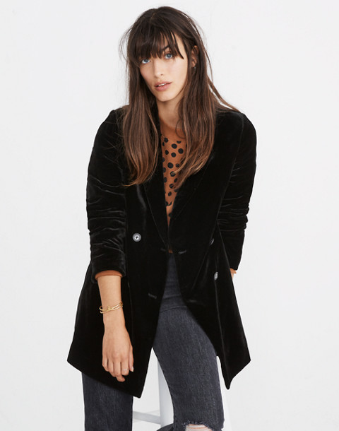 Velvet Caldwell Double-Breasted Blazer in black image 1