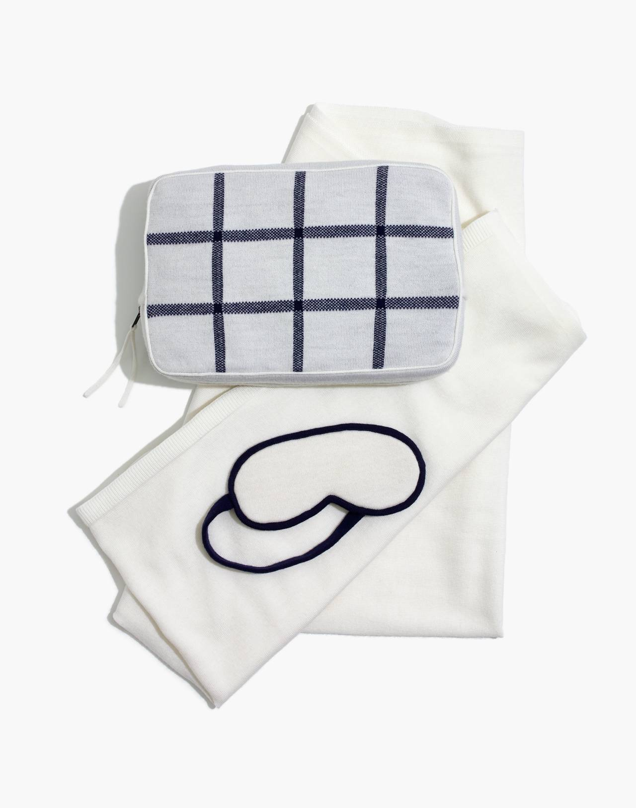Madewell x Parachute Merino Travel Kit in navy multi image 1