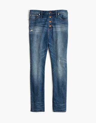 The Petite High-Rise Slim Boyjean in Hatfield Wash: Button-Front Edition in hatfield wash image 4