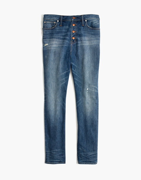 The High-Rise Slim Boyjean in Hatfield Wash: Button-Front Edition in hatfield wash image 4