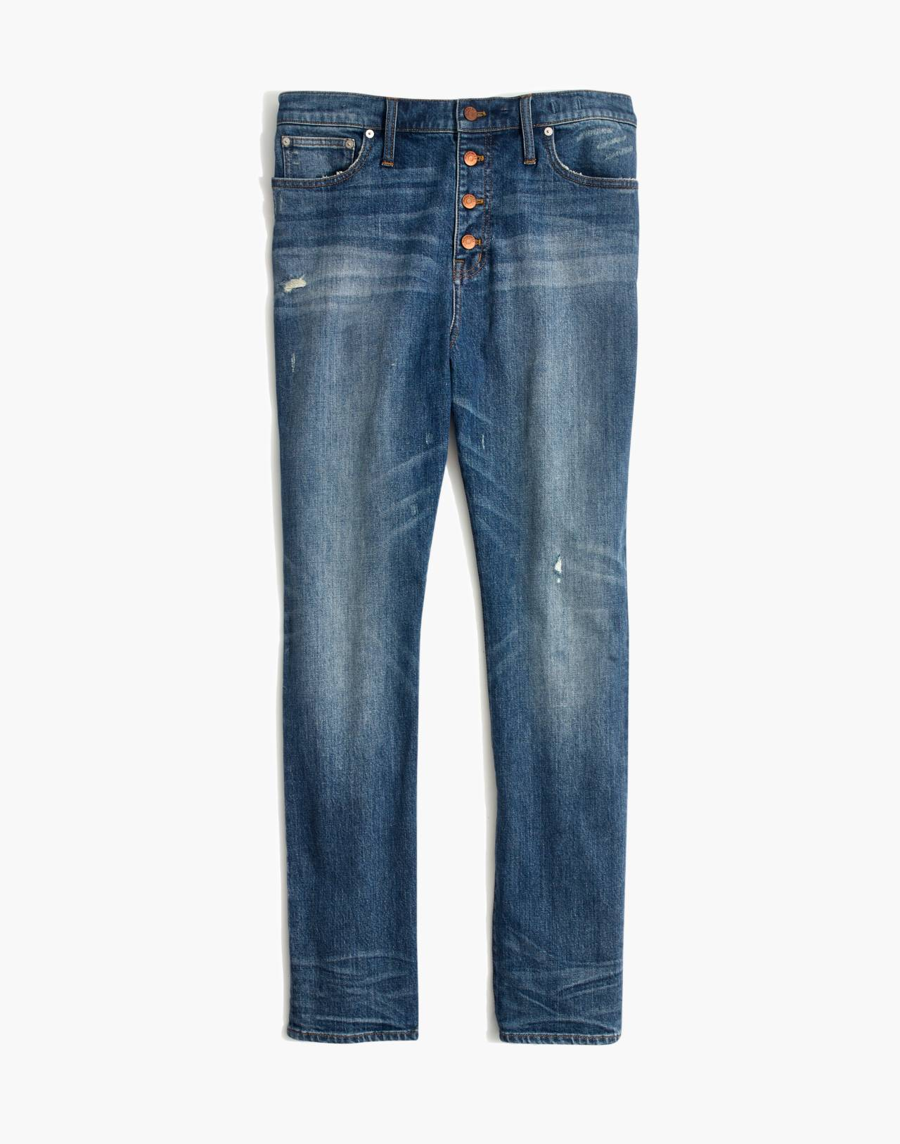 The Tall High-Rise Slim Boyjean in Hatfield Wash: Button-Front Edition in hatfield wash image 4