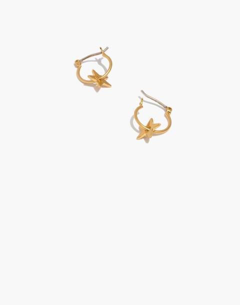 Star Charm Mini Hoop Earrings