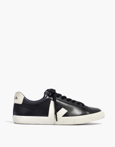 Veja™ Esplar Low Sneakers in Black Leather in black pierre image 3