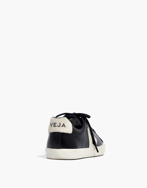 Veja™ Esplar Low Sneakers in Black Leather in black pierre image 4