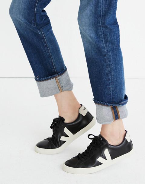 Veja™ Esplar Low Sneakers in Black Leather in black pierre image 2