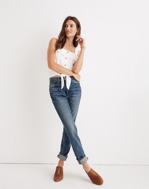 The Petite High-Rise Slim Boyjean in Frisco Wash in frisco wash image 3