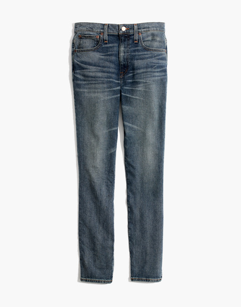 The Petite High-Rise Slim Boyjean in Frisco Wash in frisco wash image 4