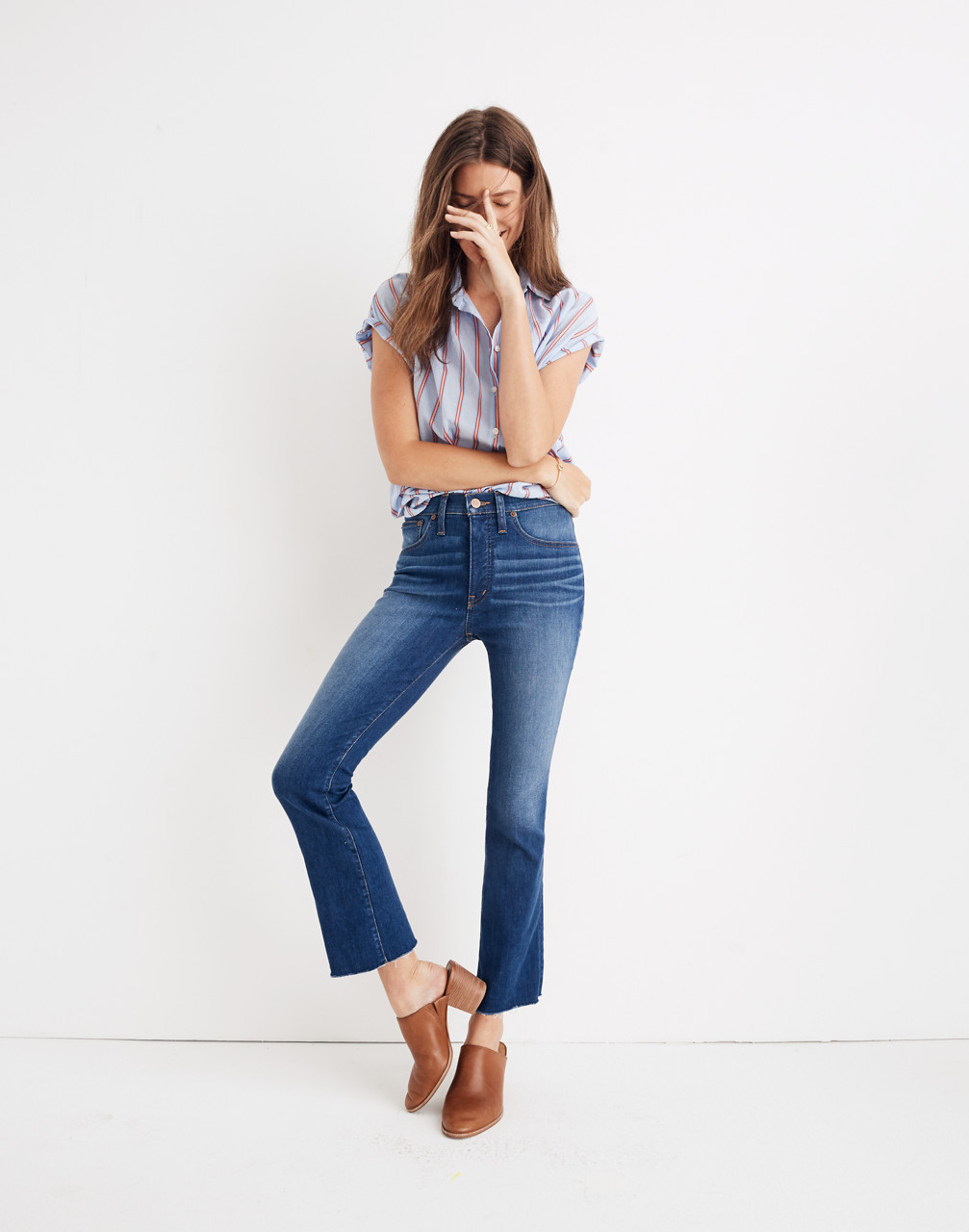 Cali Demi-Boot Jeans in Marco Wash in marco wash image 1