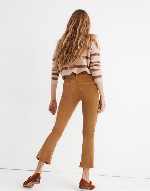 Cali Demi-Boot Jeans: Corduroy Edition in burnished cedar image 3