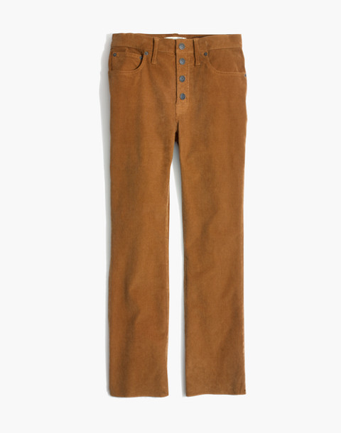 Cali Demi-Boot Jeans: Corduroy Edition in burnished cedar image 4