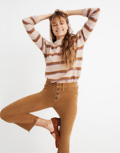 Cali Demi-Boot Jeans: Corduroy Edition in burnished cedar image 1
