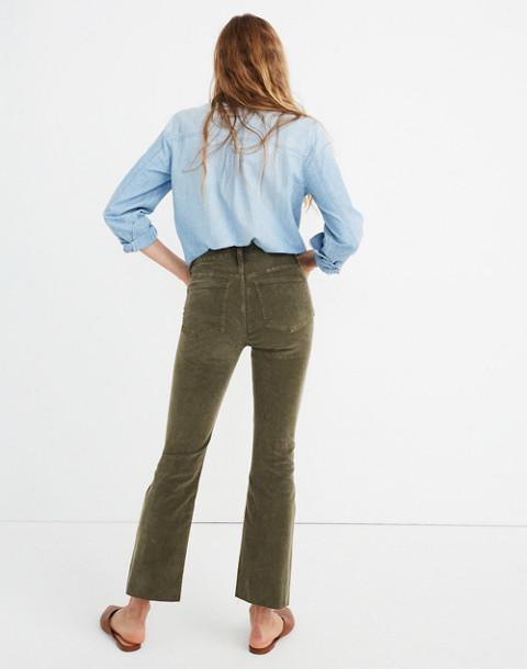 Cali Demi-Boot Jeans: Corduroy Edition in capers image 2