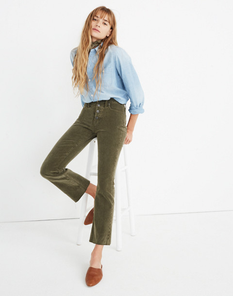 Cali Demi-Boot Jeans: Corduroy Edition in capers image 3