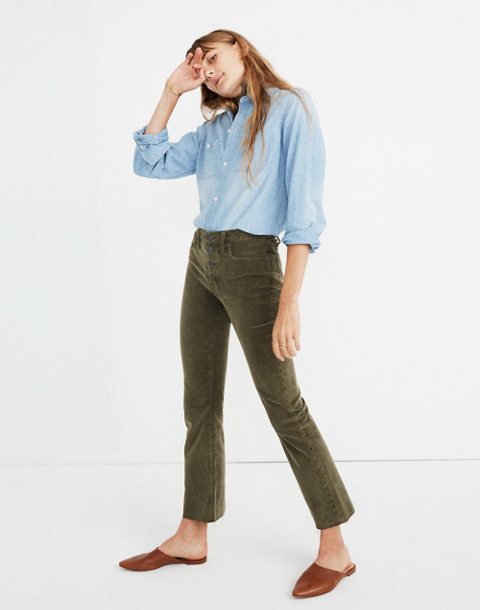 Cali Demi-Boot Jeans: Corduroy Edition in capers image 1