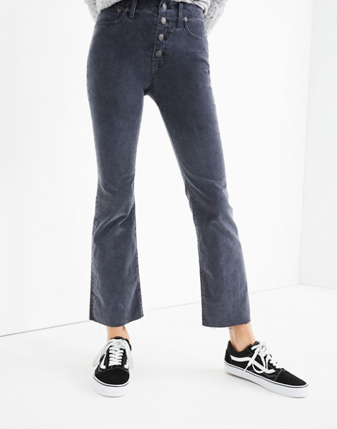 Cali Demi-Boot Jeans: Corduroy Edition in thunder image 3
