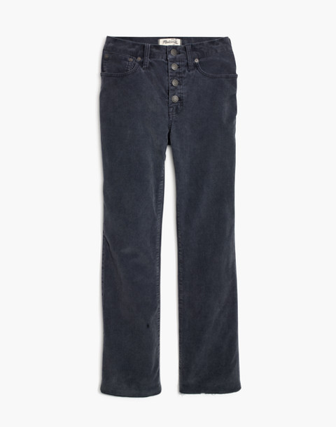 Cali Demi-Boot Jeans: Corduroy Edition in thunder image 4