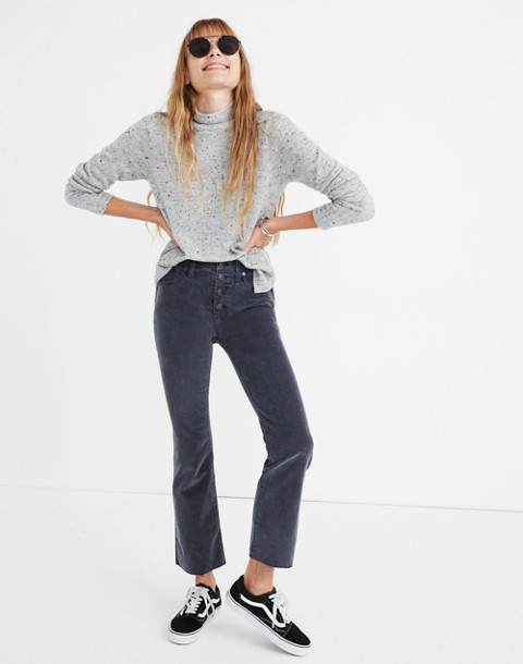 Cali Demi-Boot Jeans: Corduroy Edition in thunder image 1