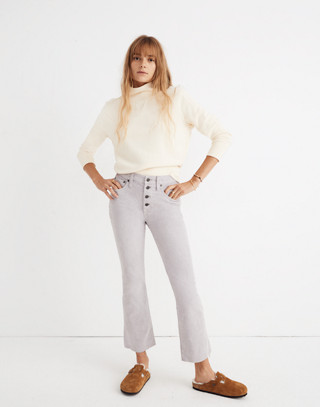 Cali Demi-Boot Jeans: Corduroy Edition in violet tint image 2