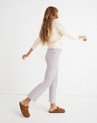 Cali Demi-Boot Jeans: Corduroy Edition in violet tint image 3